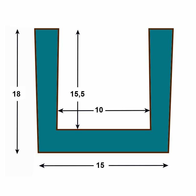 Viga imitación madera 15x18,5x300